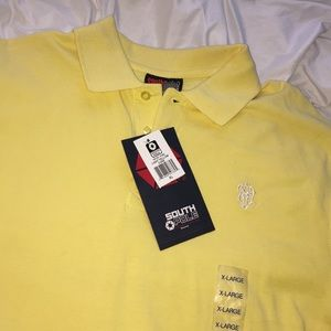 South Pole Light Yellow Polo Sz XL NWT   C15